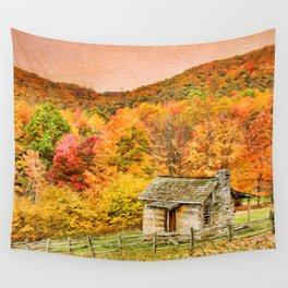 An Autumn View Wall Tapestry