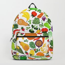 Fruit and Veg Pattern Backpack