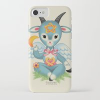 baphomet iPhone & iPod Cases featuring Baby's First Baphomet by Artetak