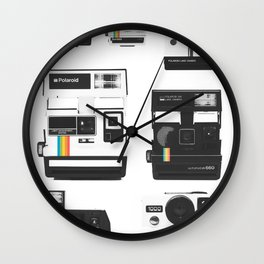 Instant Cameras - Collection Wall Clock