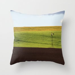 Canola Field Throw Pillow