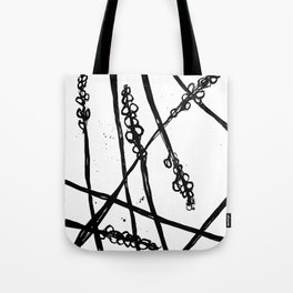 Nature illustration in black ink 2 Tote Bag