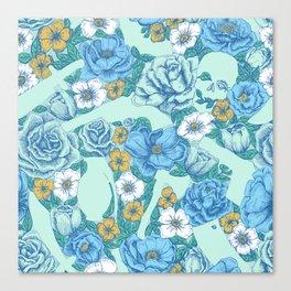 Weapon Floral-Blue Canvas Print