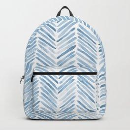 Baby blue watercolor herringbone  Backpack