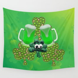 St. Patricks Day Green Beer Wall Tapestry
