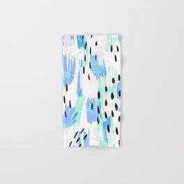 Addie - bold abstract - bright blue Hand & Bath Towel