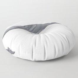 Fin whale Floor Pillow