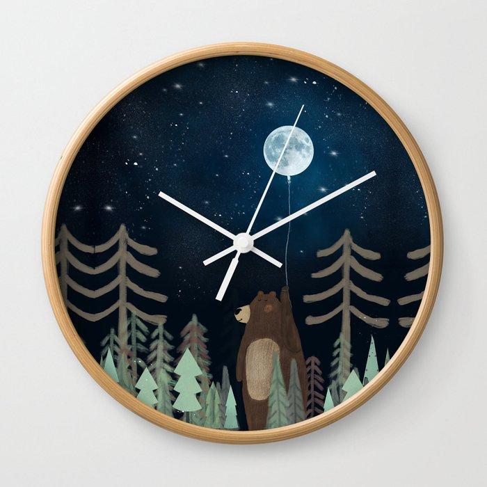 the moon balloon Wall Clock