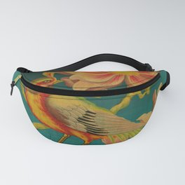 Indian Bird Trade Label Fanny Pack