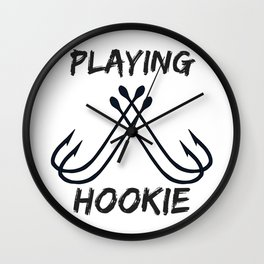 Playing Hookie Wall Clock