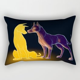 The Sun and the Moon Rectangular Pillow
