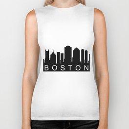 Boston skyline Biker Tank