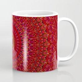 Red Lace Ornament Mandala Coffee Mug