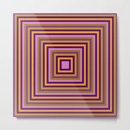 All square multicolour Metal Print