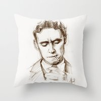 fitzgerald Throw Pillows featuring Fitzgerald by Hash