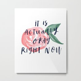 It is actually okay right now Metal Print