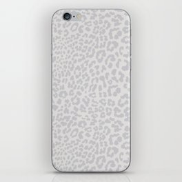 Snow Leopard Print iPhone Skin