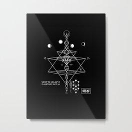 Merkaba Metal Print