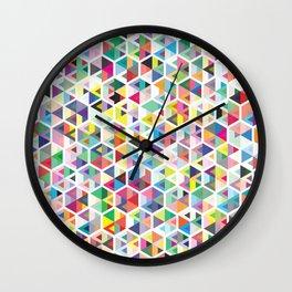 Cuben Colour Craze Wall Clock