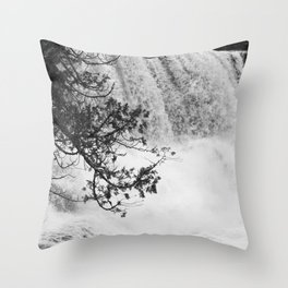 Gooseberry in Black and White Throw Pillow