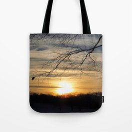 Winter's Caress of Sleeping Life Tote Bag