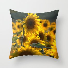 A Time For Peace Sunflower Throw Pillow