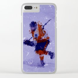 Eyes on the Prize - Ice Hockey Player Clear iPhone Case