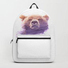 BEAR SUPERIMPOSED WATERCOLOR Backpack