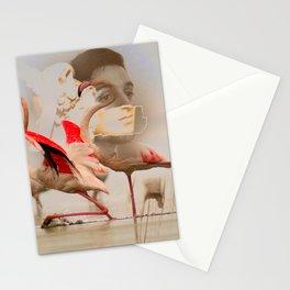 pink flamingo story Stationery Cards