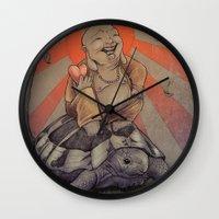 buddah Wall Clocks featuring Buddah by BBarends