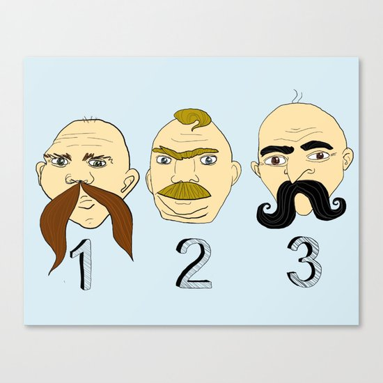 The Three Mustaches Canvas Print