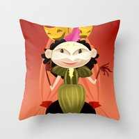 theater Throw Pillows featuring theater by ErsanYagiz