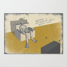 TV (with text) Canvas Print