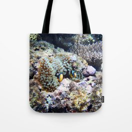 Fish in Sea Anemone Tote Bag