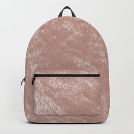 Soft rose gold velvet Backpack