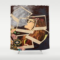 hipster Shower Curtains featuring Hipster by AMFcreations