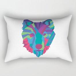 Neon Wolf Rectangular Pillow