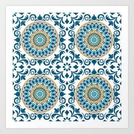 Bluish Variety Pattern Art Print