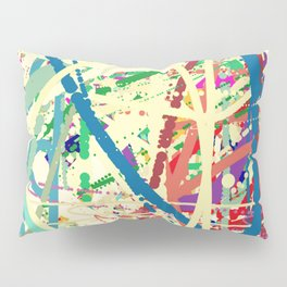 An Homage to Pollock Pillow Sham