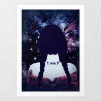 india Art Prints featuring INDIA by Nika
