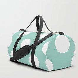 Gone Dotty Spotty - Geometric Orbital Circles In Pale Spring Fresh Green & White Duffle Bag