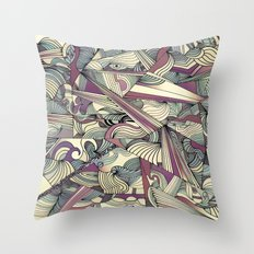When my Mind Goes Boom. Throw Pillow