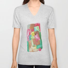 171013 Invaded Space 6|abstract shapes art design |abstract shapes art design colour Unisex V-Neck