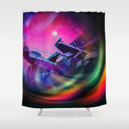 Our world is a magic - Time Tunnel 2 Shower Curtain
