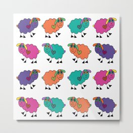 Sheepies Metal Print