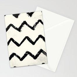 ZigZag Stripes on Ivory Stationery Cards