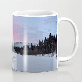 Pink Winter skies in Fairbanks Coffee Mug