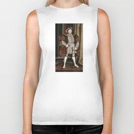Portrait of Henry VIII - After Hans Holbien the Younger Biker Tank