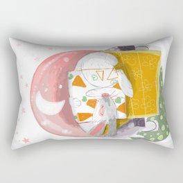 The Rabbit Diaries: Sleep and Dream Rectangular Pillow
