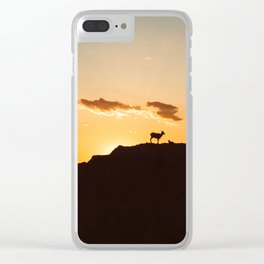 The Goats and the Sunset Clear iPhone Case
